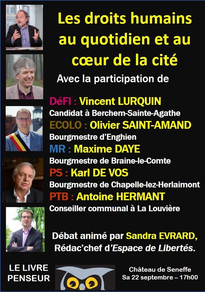affiche LP débat droits de l'homme dans la cité