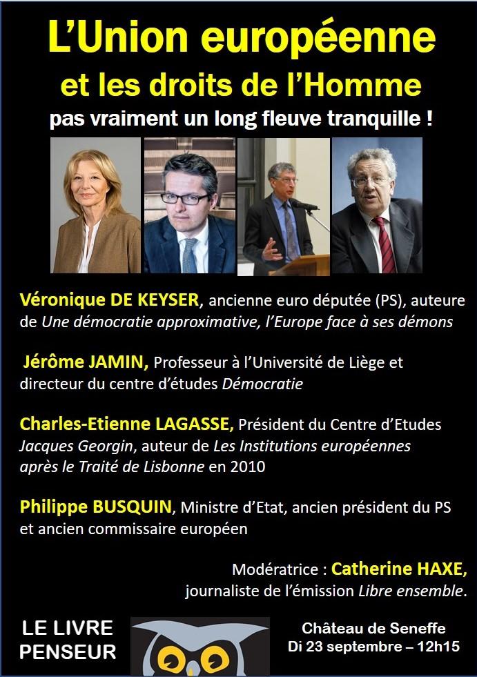 affiche LP débat Europe et droits de l'homme